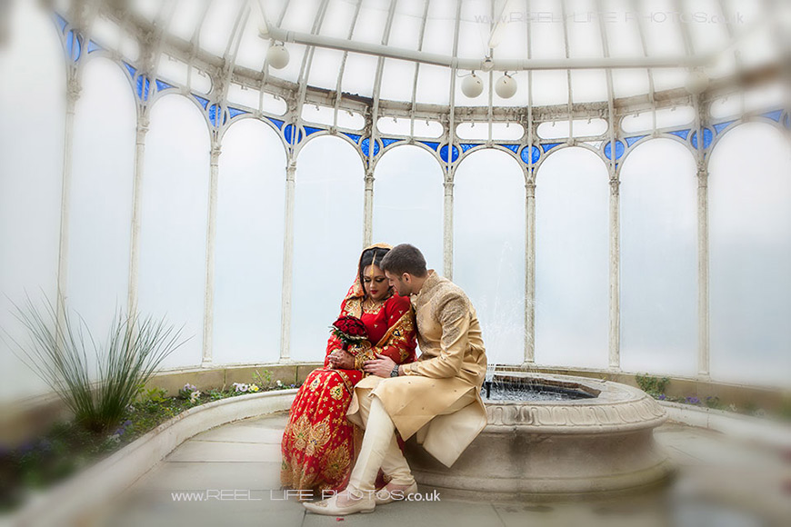 Romantic Asian wedding Crossley House